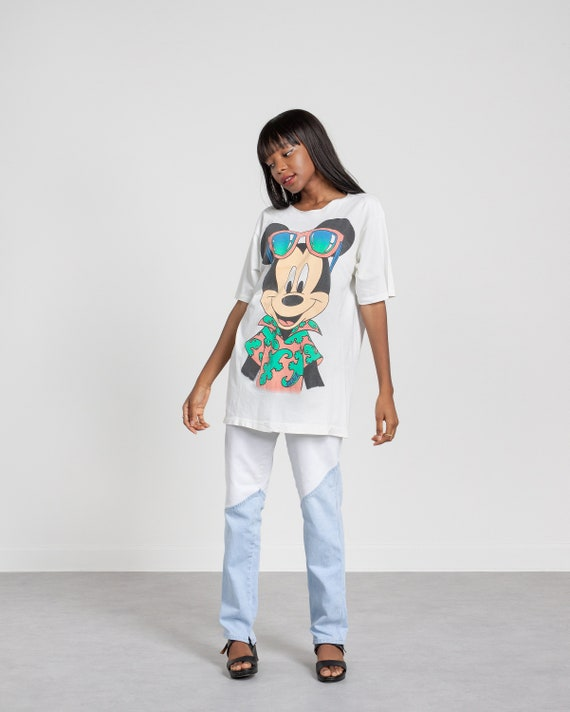MICKEY MOUSE T-SHIRT vintage nightshirt long overs
