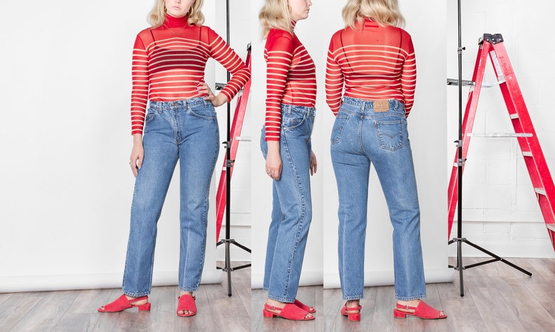 f89e4dbd90b2f 41 42 Inch Hips   Size 11 12   LEVIS JEANS high waist