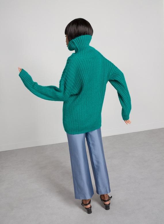 MOHAIR TURTLENECK SWEATER Vintage Jumper Pullover… - image 2