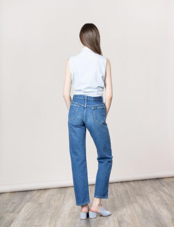 great deals classic premium selection LEE BOYFRIEND JEANS / 38 Inch Hips / Size 6 / high waist jean women denim  distressed U S A usa made