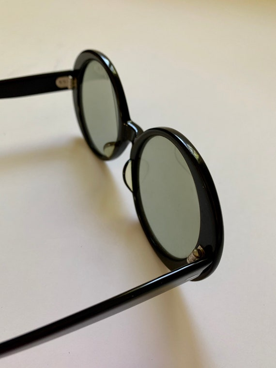 Vintage sunglasses/black oval sunglasses/ Japan s… - image 3