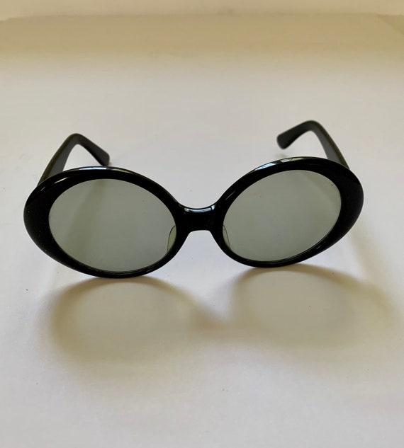 Vintage sunglasses/black oval sunglasses/ Japan s… - image 5