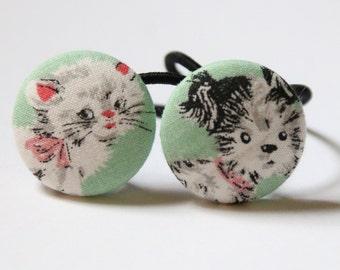 Posh Pets Kitty & Pooch.......2 ponytail holders