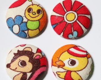 Kawaii Animals- Set of 4 JUMBO Magnets