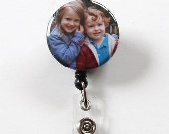 Custom Personalized PHOTO -Badge Clip