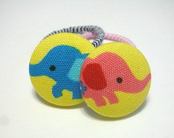 Colorful Elephants.........2 Ponytail Holders