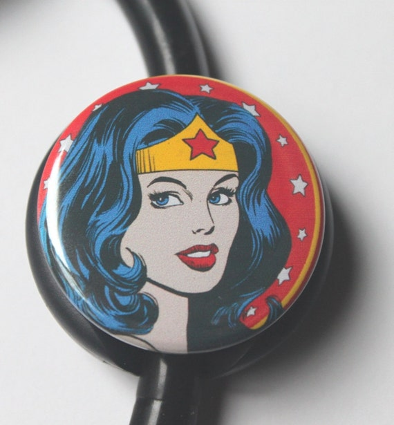 unique gift Wonder Woman stethoscope id tag yoke fits Littman Cardiology