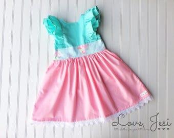 4e3a4b2b6 Pink Girls Dress Little Girls Dress Baby Girls Dress