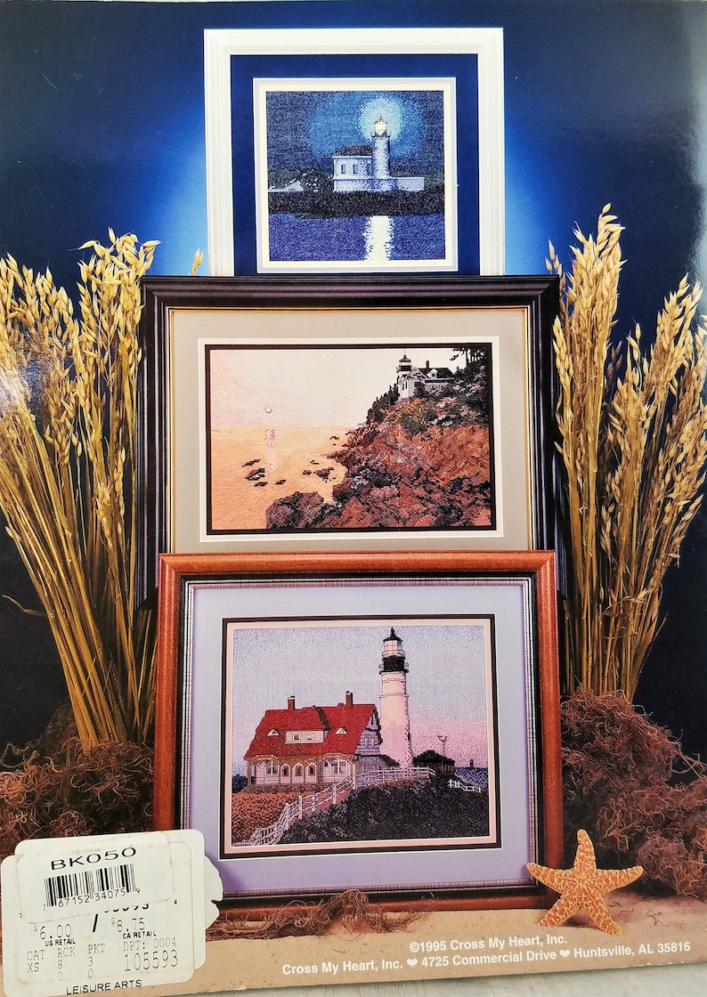 The Lighthouses Cross Stitch Booklet Cross My Heart CSB117 Seaside Vintage Charted Cross Stitch