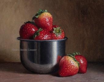 Strawberry Sweetness, Reproduction Fine Art Print