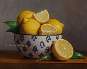 Lemon Bowl, Reproduction Fine Art Print