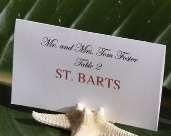 Natural Starfish Place Card Holders - Set of 25