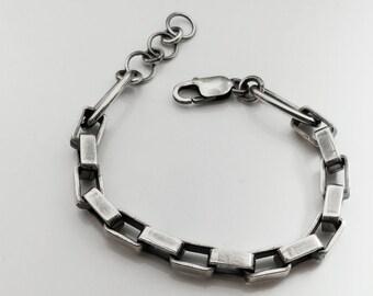 BRUTALIST silver links bracelet- reserved for J