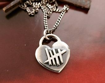 sale- BAD ROMANCE heart necklace