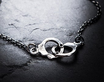 sale- LOVERS handcuffs necklace