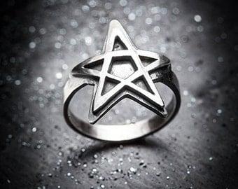 SALEM pentagram ring