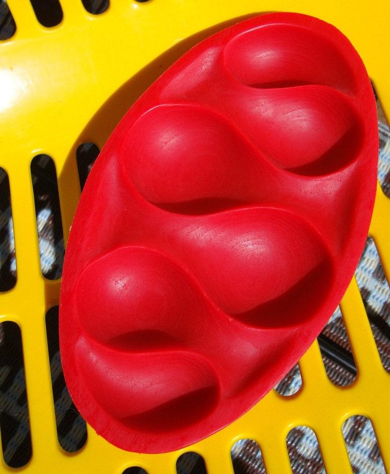 Cherry Red Mid-Century Modern Urethane Tabletop Organizer Dish image 0