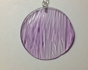 Ripple texture pendant in light purple clear