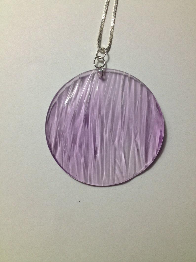 Ripple texture pendant in light purple clear image 0