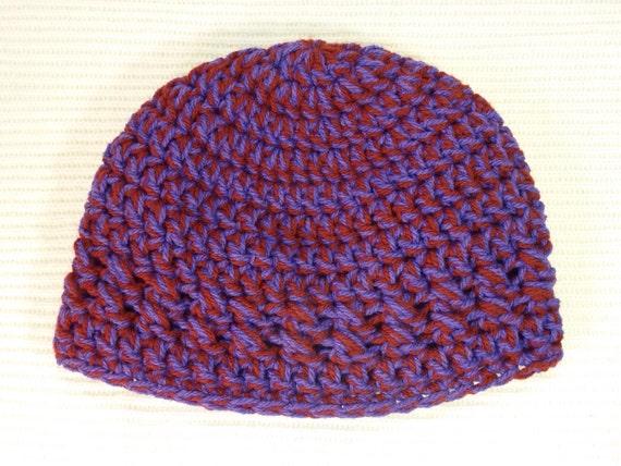 Hut häkeln Mütze Kind 5 bis 10 Jahre lila rot | Etsy