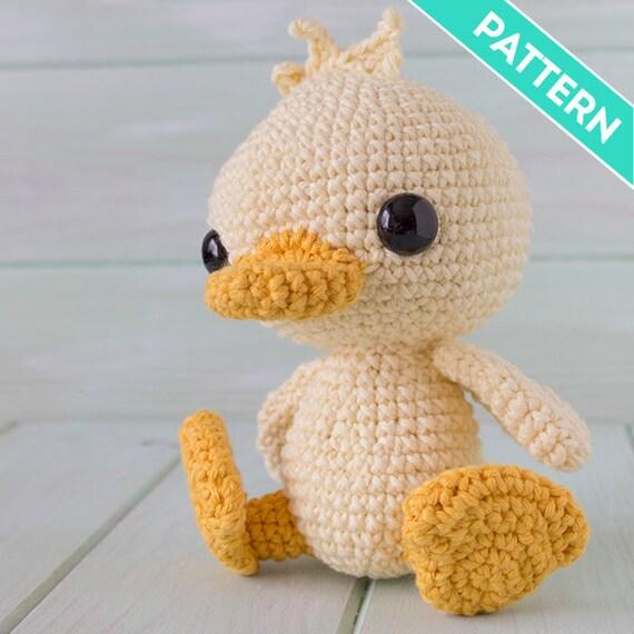 Patrón Crochet Patito Bebé PATRÓN INGLÉS PDF Patrón   Etsy