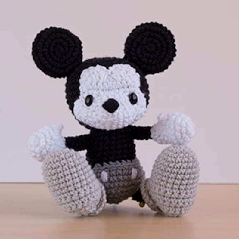 Diy Gifts Kawaii Doll Vintage Crochet ENGLISH PATTERN Amigurumi Pattern Doll Amigurumi Crochet Pattern Mickey Mouse PDF Crochet Toys