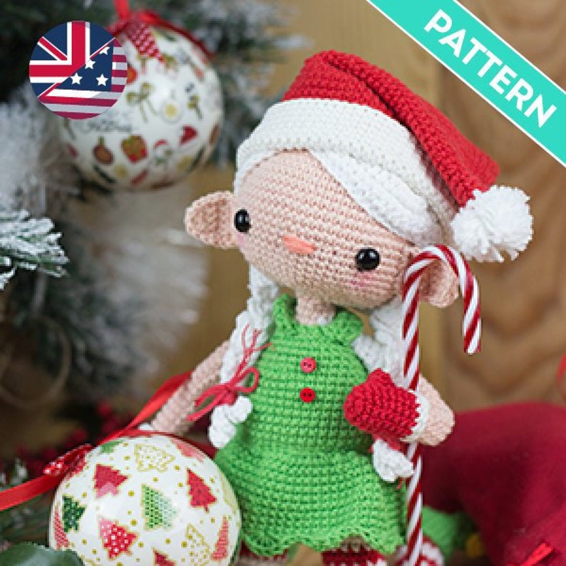 Christmas Girl Doll Amigurumi Pattern ENGLISH PATTERN PDF Crochet Christmas Decorations Christmas Handmade Gifts Christmas Elf Pattern