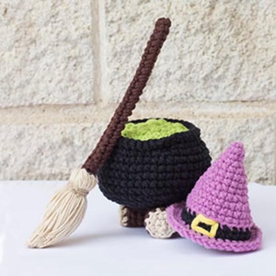 Crochet Pattern Kit Little Witch Accesories ENGLISH PATTERN | Etsy