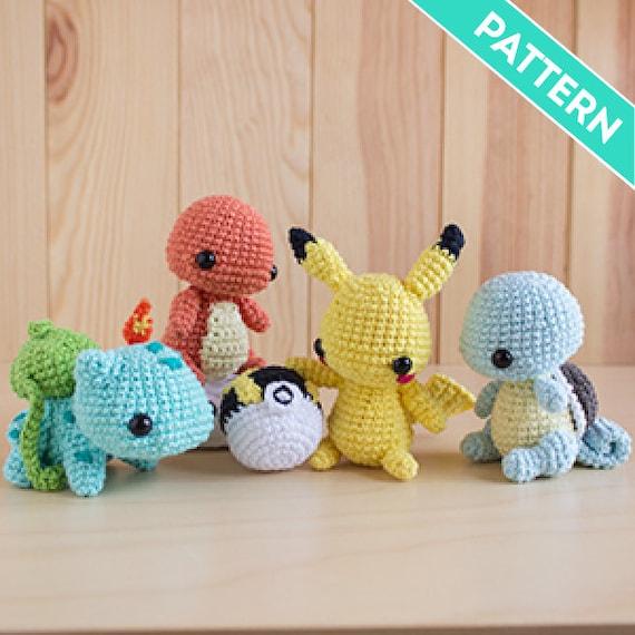 Patrones Amigurumi Pack Starters Pokémon Pikachu Gratis | Etsy