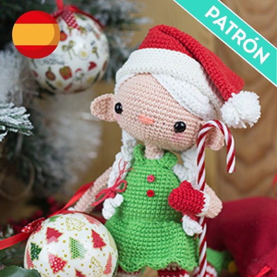 CROCHET PATTERN in English - Edna the Elf Doll - Christmas - 11 in ... | 570x570