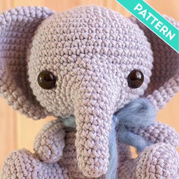 Patrón Amigurumi Elefante Bebé PATRÓN INGLÉS PDF Patrón | Etsy