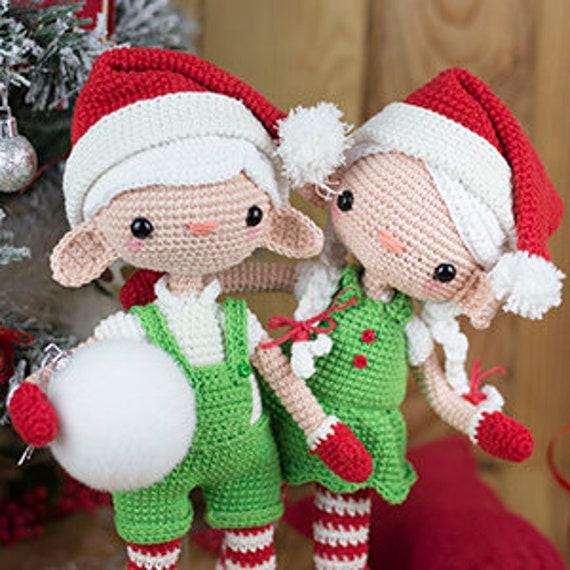 Christmas Doll Amigurumi Crochet Pattern Easy Crochet | Etsy | 570x570