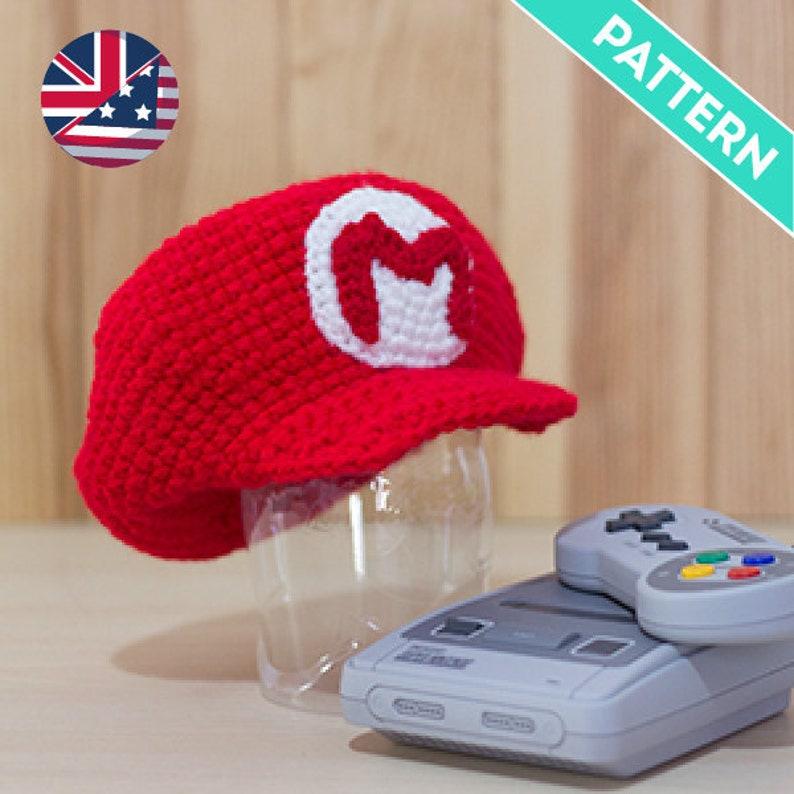 Patrón Crochet Gorra de Mario Bros y Luigi para Bebés PATRÓN  82556c99f76
