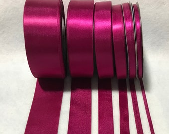 18 metres of 15 mm wide hot pink double sided satin ribbon