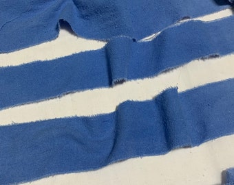 Hand Dyed Cornflower Blue 100/% Silk Noil Ribbon 4 Widths to choose from