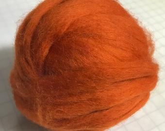 .5 Oz Finest Romney /& Merino Wool Roving Orange