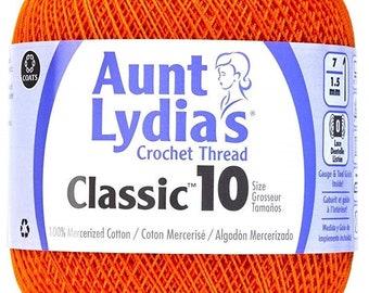 Coats Aunt Lydia/'s Crochet Cotton Thread Size 30 Extra Fine Natural 180-226