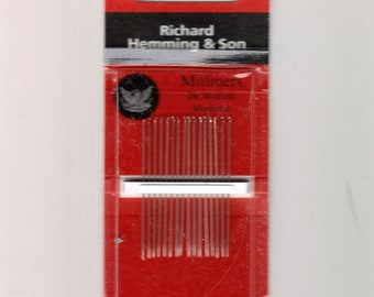 Richard Hemming Needles Sharps Size 11 Made in England