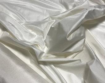 WHITE - Silk Taffeta Fabric
