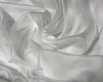 WHITE - Soft Silk Organza Fabric