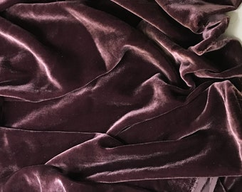 PLUM WINE Silk Velvet Fabric
