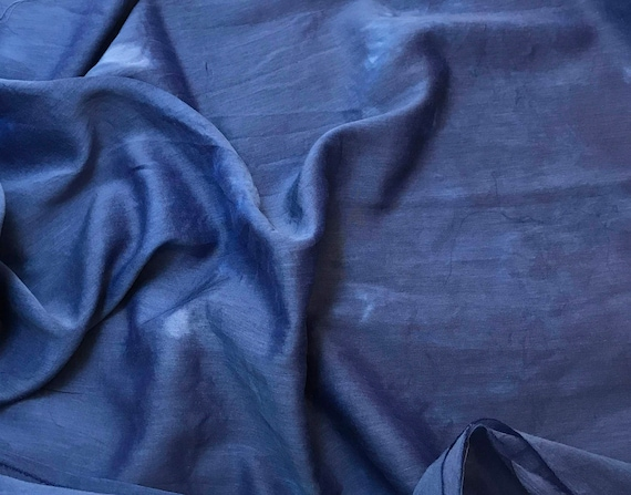 """Silk//Cotton Voile Batiste Fabric Hand Dyed CHOCOLATE BROWN 54/"""""""