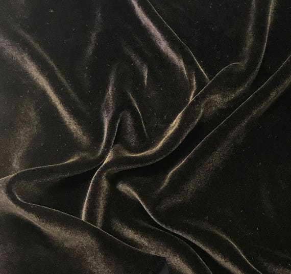 """Hand Painted Silk Velvet Fabric Antique Gold on Rose Gold 9/""""x22/"""" remnant"""