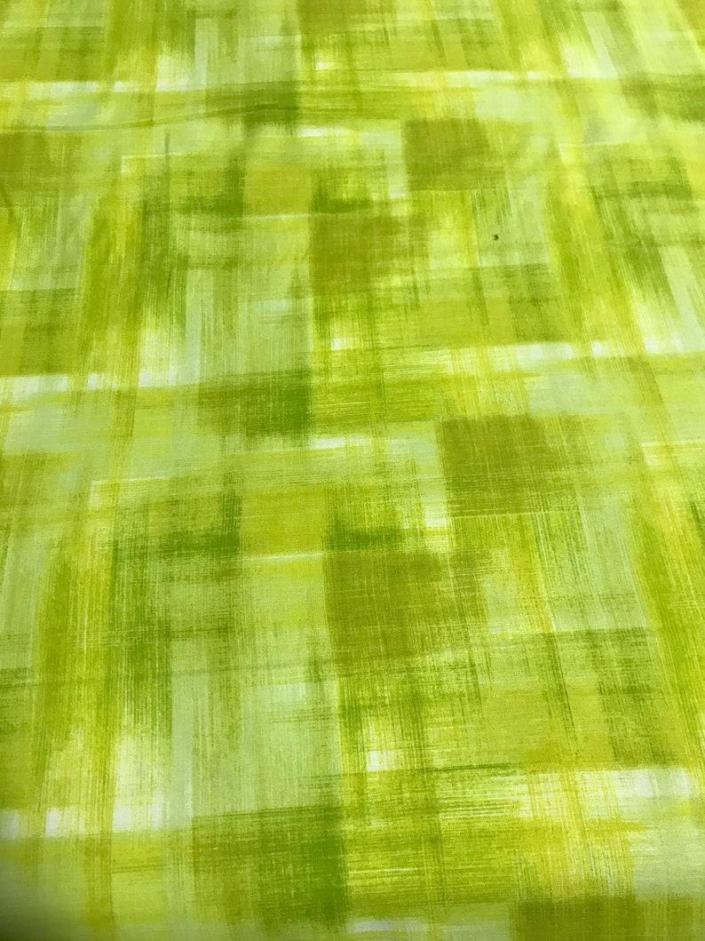 Dancing Wings Studio E Cotton Fabric Bright Green Woven Ombre