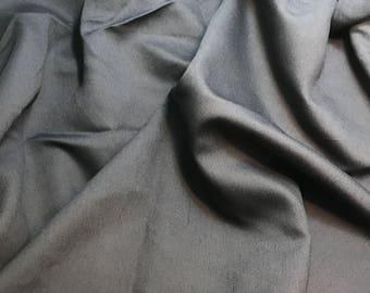 Charcoal Gray - Faux Silk Shantung Fabric - 1 Yard