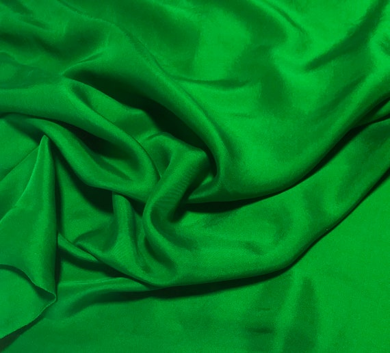 Hand Dyed Bright Kelly Green Silk Velvet Ribbon 3 Widths to choose from