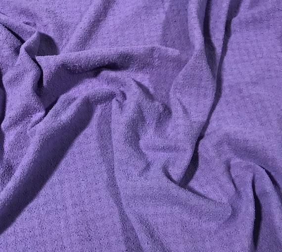 Purple Hand Dyed Checkered Weave Silk Noil 1 Yard