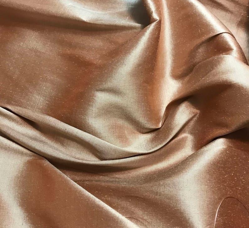 Orange Taupe 54 wide By the Yard Silk Taffeta Fabric