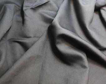 Charcoal Gray - Faux Silk Shantung Fabric - 1/3 Yard
