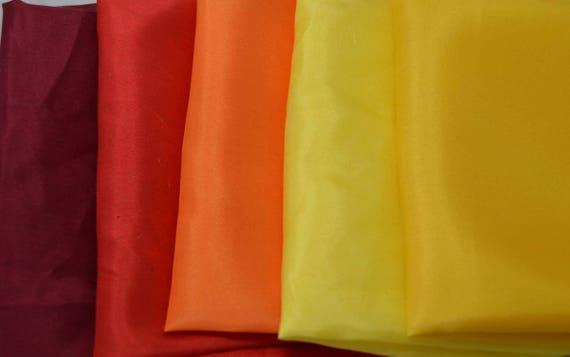 """Silk VELVET Autumn Colors Fabric Sample Set Remnants Lot 18/""""x22/"""" Each"""